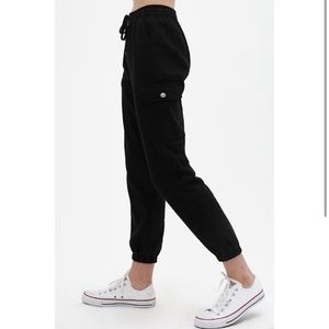 ONLY SMALL & LARGE AVAILABLE! Black Cuffed Joggers